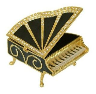 Piano Jewelry Trinket Box Swarovski Crystals #1132