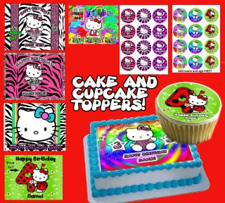 Hello Kitty edible Cake & Cupcake toppers picture Photo image