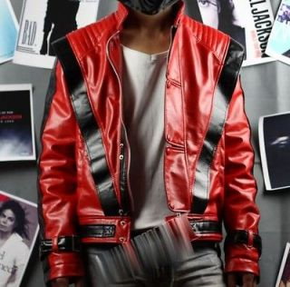 Michael Jackson Red Thriller Leather jacket Free Billie Jean GIF