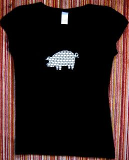 ROGER WATERS THE WALL PINK FLOYD ANIMALS PIG 2 SIDED BABYDOLL Sizes SM