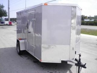 New 6x12 Enclosed Trailer Cargo V Nose Utility Motorcycle Lawn 10