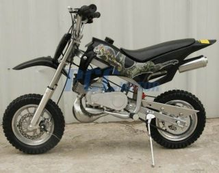 BRAND NEW 49CC 50CC 2 STROKE GAS MOTOR MINI DIRT PIT BIKE BLACK DB49A