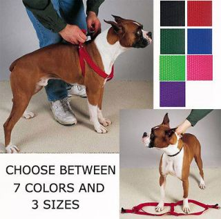 STEP IN DOG HARNESS ADJUSTABLE NYLON HARNESSES EASY TO USE WALKING