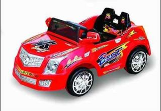 RED CADILLAC POWER WHEELS, R/C REMOTE CONTROL RIDE ON CAR with BUILT