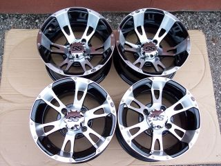 12 SUZUKI KING QUAD ITP SS112 ALUMINUM ATV WHEELS NEW SET 4  LIFETIME