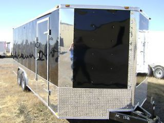 Black8.5x24 Enclosed Cargo Trailer Car Hauler w/ 5200 Axles RACE READY