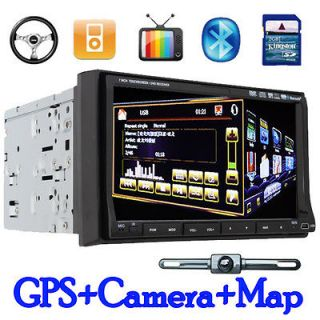 HD 3D PIP 7Touch Screen Double Din In dash Car DVD Player GPS
