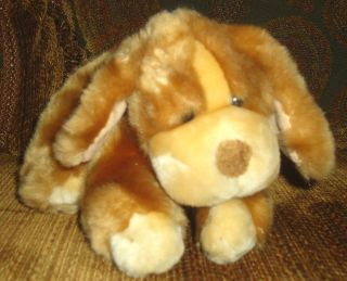 Plush Brown PUPPY DOG Darby Toys R Us LOVEY SOFT STUFFED ANIMAL