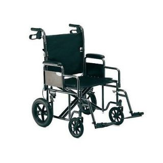 Invacare Heavy Duty 22 in Wide Folding Bariatric Transport Wheelchair