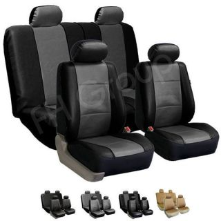 Seat Covers Airbag Ready & Split Bench Gray / Black (Fits Ford F 150