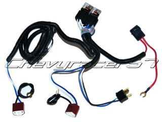 HEADLIGHT RELAY WIRING HARNESS 2 HEADLAMP LIGHT BULB SOCKET PLUGS 7X6