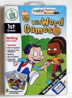 NICK Jr All GROWN UP LEAP FROG LeapPad PlusWriting WILD WORD GAMES 1st