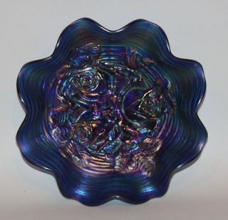 northwood carnival glass bowls blue