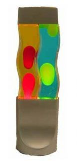 16 Twin Groovy Double Motion Volcano Lava Lamp Night Light Two Tubes