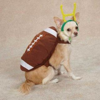 Plush Football Dog Costume Touchdown Hound Halloween Dog Costume M