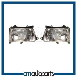 93 98 Toyota T100 Pickup Truck Headlights Headlamps Pair Set NEW