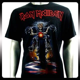 Iron Maiden Heavy Metal Men Rock Punk T shirt Sz XXL 2XL Biker Rider