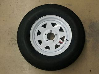 ST 175/80D13 B78 13 Trailer Tires Bias Ply White Spoke Wheels Rims 13