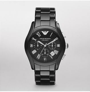 Emporio Armani Watch AR1400 Black Ceramic model **BRAND NEW**