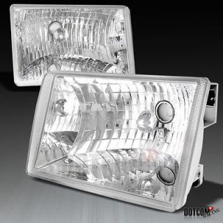 1993 1998 JEEP GRAND CHEROKEE CHROME DIAMOND HEADLIGHTS CLEAR LAMPS