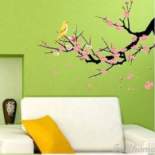 Flower Tree Bird Bed Room Decals Decor Mural Wall Stickers Removable
