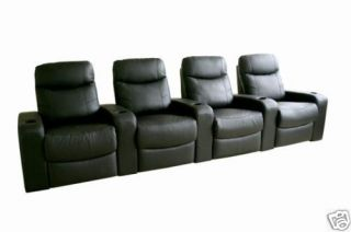 Home Theater Seating Recliner Movie Chairs 4 Seats