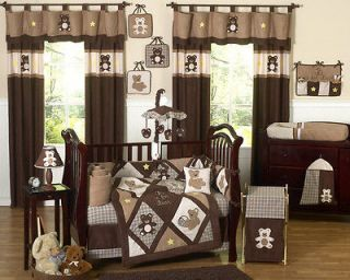DISCOUNT LUXURY TEDDY BEAR NEUTRAL 9pc BABY BOY CRIB BEDDING SET