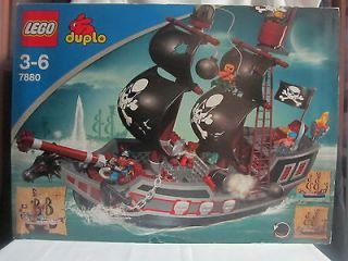 Lego Duplo Big Pirate Ship Boat Lot Set #7880 People New in Box