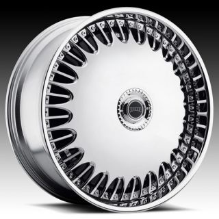 24 DUB SPIN Billionaire Wheel SET 24x9 RWD 5 & 6 LUG Spinner Wheels