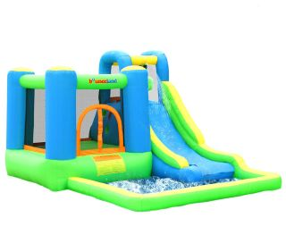 Inflatable Bounce House Jump and Splash Adventure Water Slide Bouncer