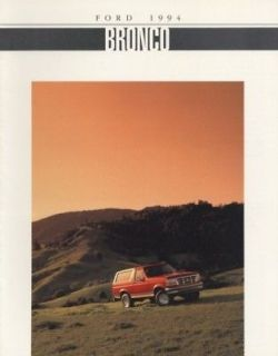 1994 Ford Bronco 4x4 Truck USA Catalog Sales Brochure