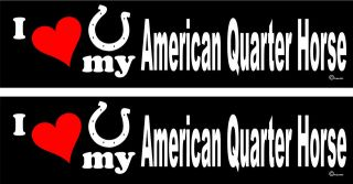 love my American Quarter Horse trailer bumper stickers LARGE 3.0