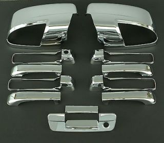 2010 2011 DODGE RAM 5D CHROME DOOR + MIRROR + TAILGATE HANDLE COVER