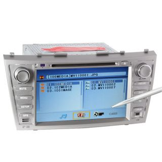 New In Dash Car Stereo W/GPS CD DVD  IPOD USB Player F/Toyota Camry