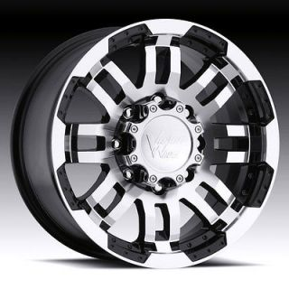 17 Inch 5x135 BLACK VISION WARRIOR 5 LUG WHEELS RIMS FORD F150