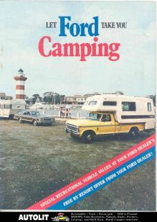 1973 Ford Pickup Camper Travel Trailer Brochure