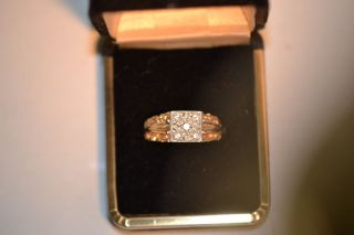 Mens solid 14k yellow gold diamond ring over 1 carat size 10 SI2