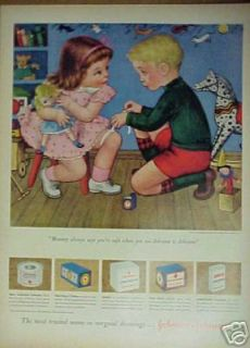 1950 Kids Toys Jack in the box Rockin Horse Doll Art Ad