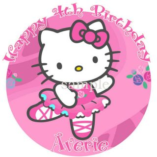 HELLO KITTY Edible CAKE Image Icing Topper Round B