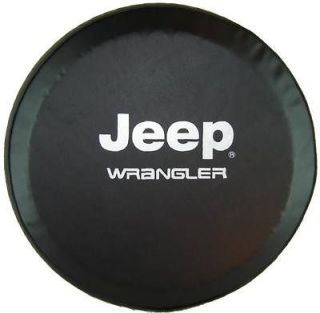 Jeep® Wrangler Tire Cover 32   33 Tuxedo Black Vinyl (Fits Jeep