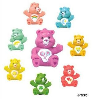 CARE BEARS Figures 8 Collectible Party Favors Figurines