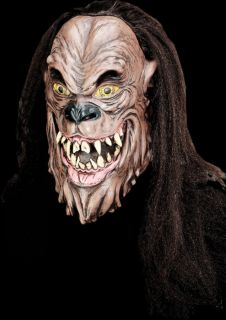 WEREWOLF MASK black hair scary monster adult halloween costume