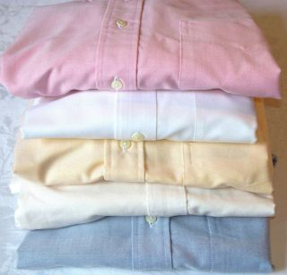 Brooks Brothers Mens Cotton Oxford Shirts NWOT Never have been worn