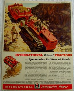 1946 INTERNATIONAL HARVESTER DIESEL TRACTOR CRAWLERS BULLDOZER CANADA