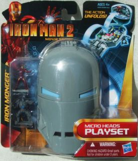 IRON MAN MICRO PLAYSET IN IRON MONGER HELMET AGE 4+