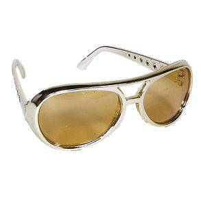 ELVIS PRESLEY THE KING POP STAR SUNGLASSES GOLD COSTUME