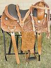 New 16 Western Hand Carved Reining Trail Horse Leather Saddle Tack w