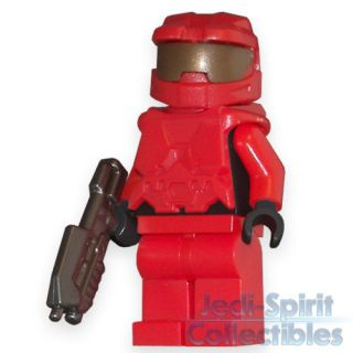 Lego HALO Custom *MASTER CHIEF* Red Color Minifig   FREE USA SHIPPING