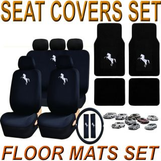 FORD MUSTANG EXPLORER WHITE MUSTANG HORSE 18 PIECES SEAT COVERS