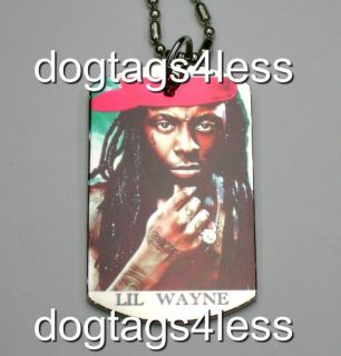 LIL WAYNE Dog Tag HIP HOP DogTag Necklace FREE Chain 5